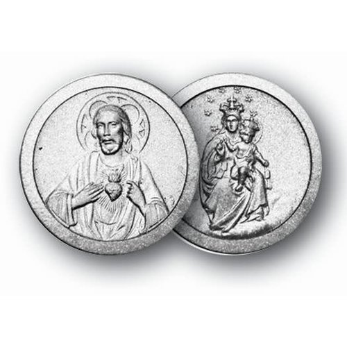 SACRED HEART OF JESUS/OUR LADY OF MT CARMEL POCKET COIN