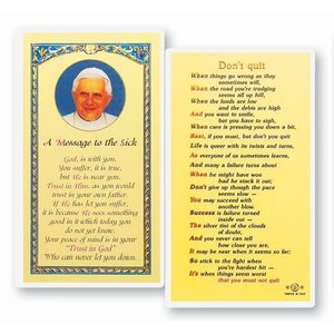 POPE FRANCIS MESSAGE TO THE SICK