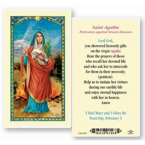 ST AGATHA PRAYER CARD (Breast Cancer)
