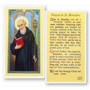 PRAYER TO ST BENEDICT PRAYER CARD