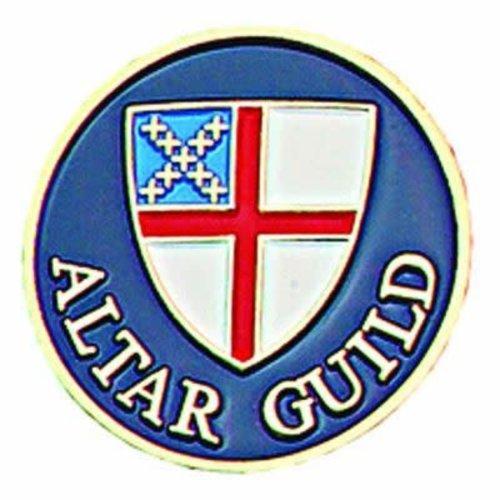 ALTAR GUILD LAPEL PIN EPISCOPAL SHIELD