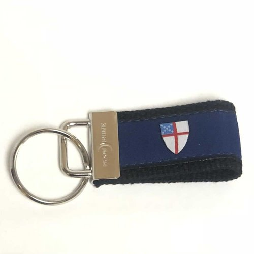 KEY RING with EPISCOPAL SHIELD Navy Blue