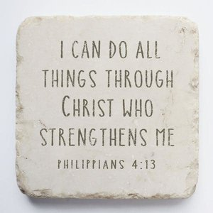 'I CAN DO ALL THINGS' STONE BLOCK SMALL