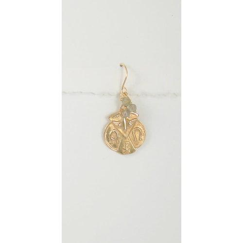 Bronze Alpha Omega Earrings  by Andrea Barnett