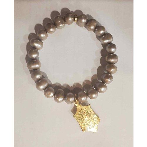 Silver Pearl St Teresa Bracelet by Andrea Barnett