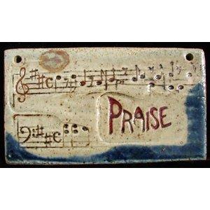 PLAQUE MED RECT PRAISE W/ MUSIC