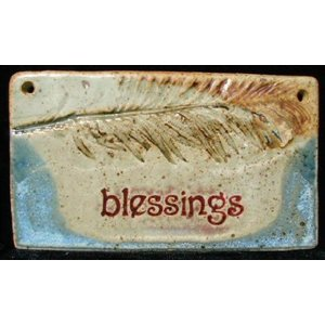 PLAQUE MED RECT BLESSING W/PLANT