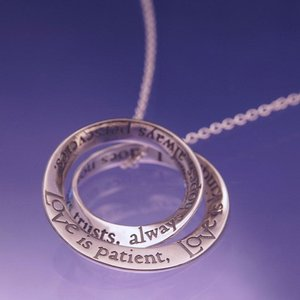 LOVE IS PATIENT Double Mobius Sterling Necklace by Laurel Elliott