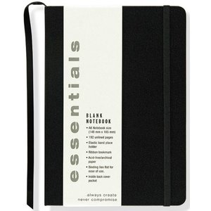 JOURNAL ESSENTIALS UNRULED SMALL BLACK