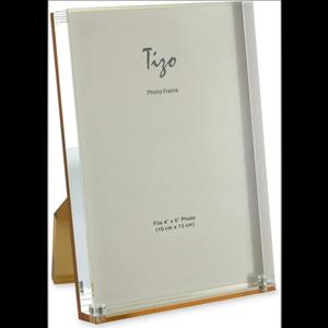 """Tizo Acrylic Frame Gold Back 4"""" x 6"""""""