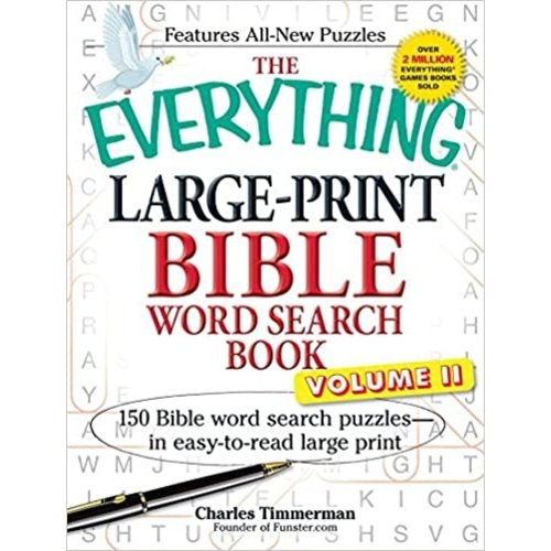 TIMMERMAN, CHARLES The Everything Large-Print Bible Word Search Book, Volume II by CHARLES TIMMERMAN