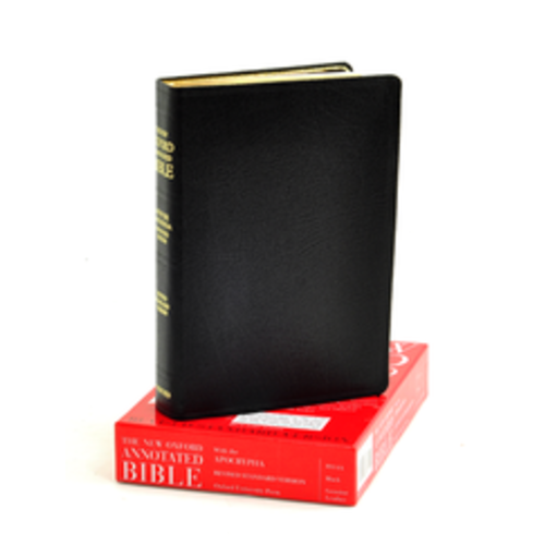 NEW OXFORD ANNOTATED BIBLE w/ APOCRYPHA, NRSV, GENUINE LEATHER
