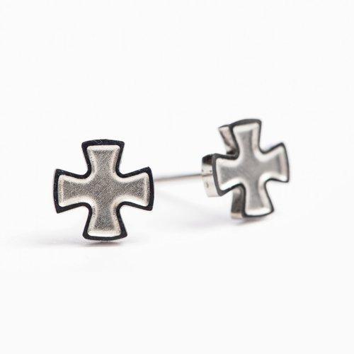 MY SAINT MY HERO Faith Stud Earrings - Silver