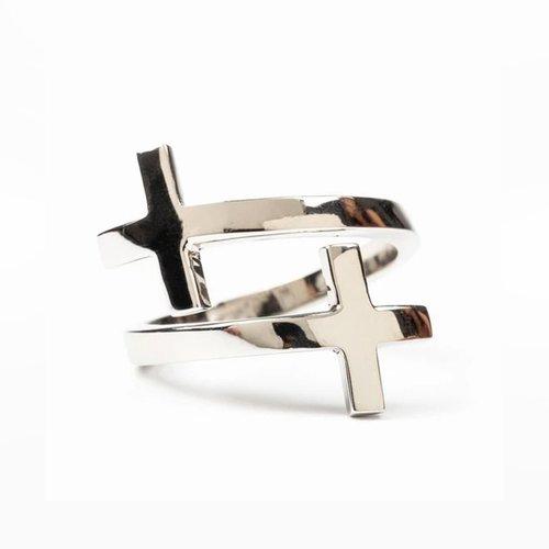 MY SAINT MY HERO Pillar of Faith Ring - Adjustable Size - Silver