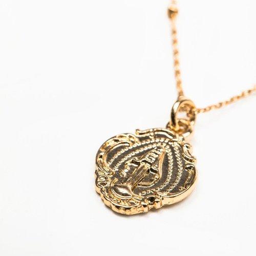 MY SAINT MY HERO Miraculous Petite Necklace - Gold