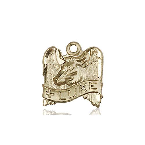 Bliss St. Luke Medal, 14kt Gold