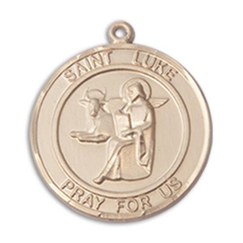 Bliss St. Luke the Apostle medal, 14kt Gold
