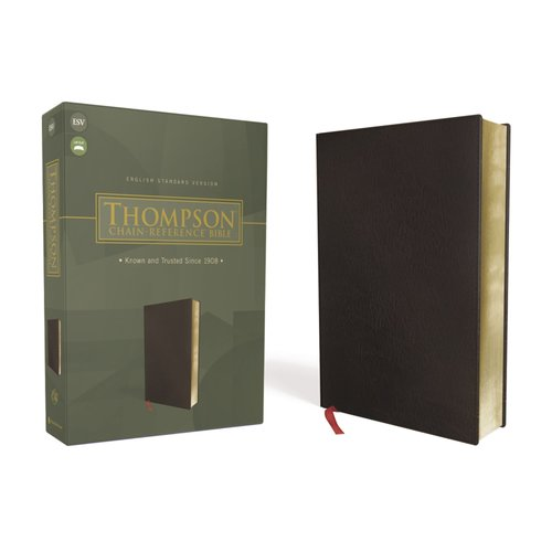 THOMPSON, FRANK CHARLES Thompson Chain-Reference Bible, Bonded Leather, Black, Red Letter, ESV