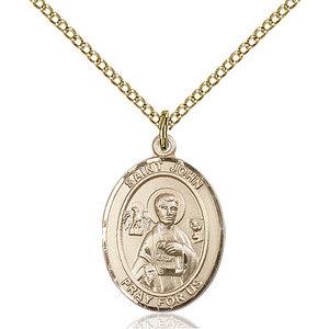 Bliss St. John the Apostle Pendant - Oval, Medium, 14kt Gold Filled