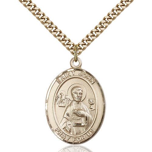 Bliss St. John the Apostle Pendant - Oval, Large, 14kt Gold Filled