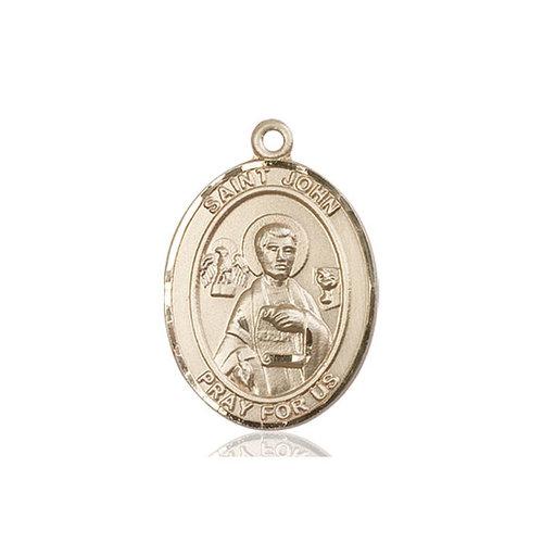 Bliss St. John the Apostle Pendant - Oval, Large, 14kt Gold