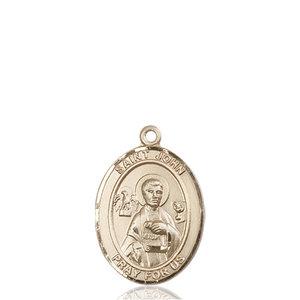Bliss St. John the Apostle Pendant- Oval, Medium, 14kt Gold