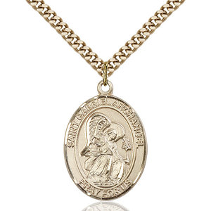 Bliss St. Gabriel the Archangel Pendant - Oval, Large, 14kt Gold Filled