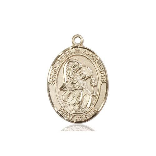 Bliss St. Gabriel the Archangel Pendant - Oval, Large, 14kt Gold