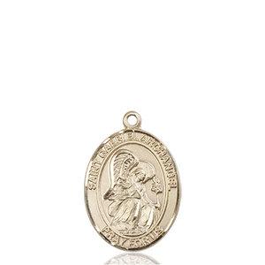 Bliss St. Gabriel the Archangel Pendant - Oval, Medium, 14kt Gold