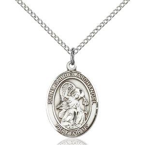 Bliss St. Gabriel the Archangel Pendant - Oval, Medium, Sterling Silver