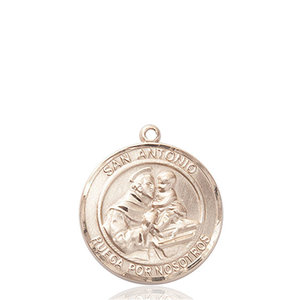 Bliss San Antonio Medal - Round, Medium, 14kt Gold
