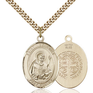 Bliss St. Benedict Pendant - Oval, Large, 14kt Gold Filled