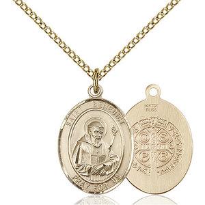 Bliss St. Benedict Pendant - Oval, Medium, 14kt Gold Filled