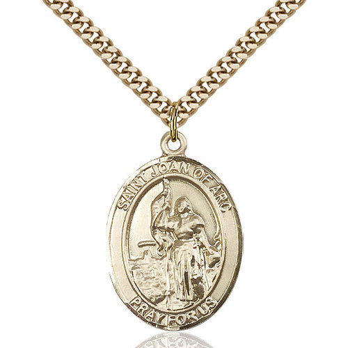Bliss St. Joan of Arc Pendant - Oval, Large, 14kt Gold Filled