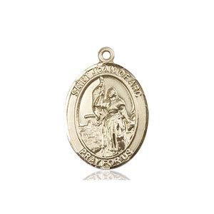 Bliss St. Joan of Arc Medal - Oval, Large, 14kt Gold