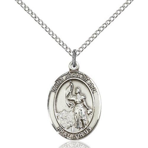 Bliss St. Joan of Arc Pendant - Oval, Medium, 14kt Gold Filled