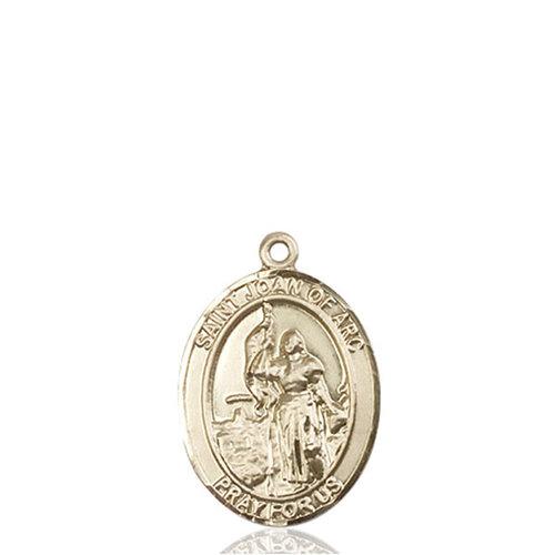 Bliss St. Joan of Arc Medal - Oval, Medium, 14kt Gold