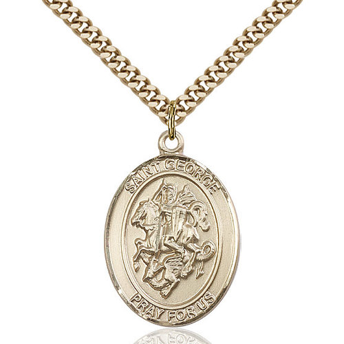 Bliss St. George Pendant - Oval, Large, 14kt Gold Filled