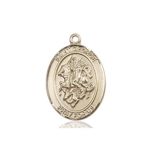 Bliss St. George Medal - Oval, Large, 14kt Gold