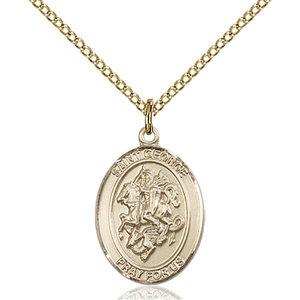 Bliss St. George Pendant - Oval, Medium, 14kt Gold Filled