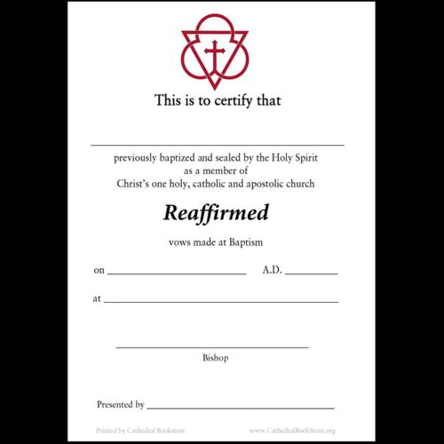 CERTIFICATE - REAFFIRMED