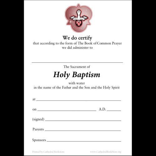 CERTIFICATE - BAPTISM