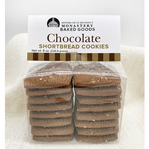 CHOCOLATE SHORTBREAD COOKIES 8 oz. by MONASTERY BAKED GOODS