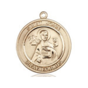 Bliss St. John the Apostle Medal - Round, Large, 14kt Gold
