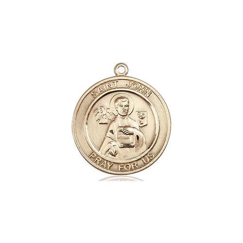 Bliss St. John the Apostle Medal - Round, Medium, 14kt Gold