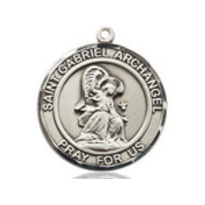 Bliss St. Gabriel the Archangel Pendant - Round, Large, Sterling Silver