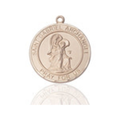 Bliss St. Gabriel the Archangel Pendant - Round, Large, 14kt Gold Filled