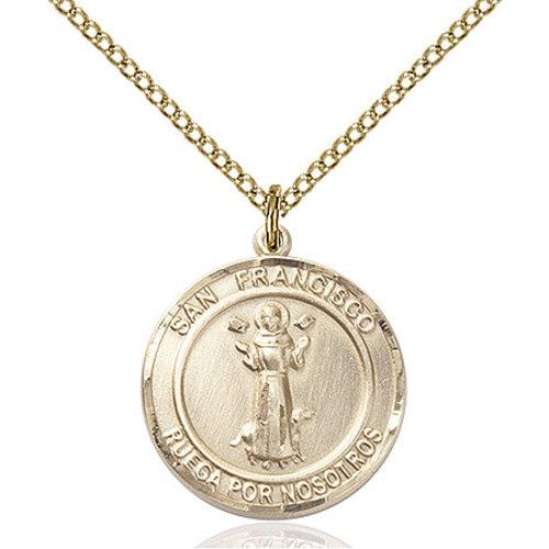 Bliss San Francis Pendant - Round, Medium, 14kt Gold Filled