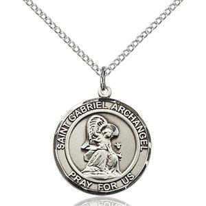 Bliss St. Gabriel the Archangel Pendant - Round, Medium, Sterling Silver