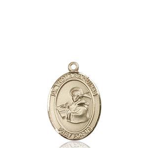 Bliss St. Thomas Aquinas Medal - Oval, Medium, 14kt Gold